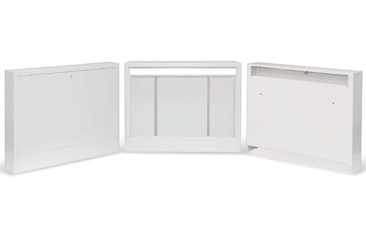 Natynkowe szafki osłonowe do rozdzielaczy ogrzewania podłogowego z serii NSM.