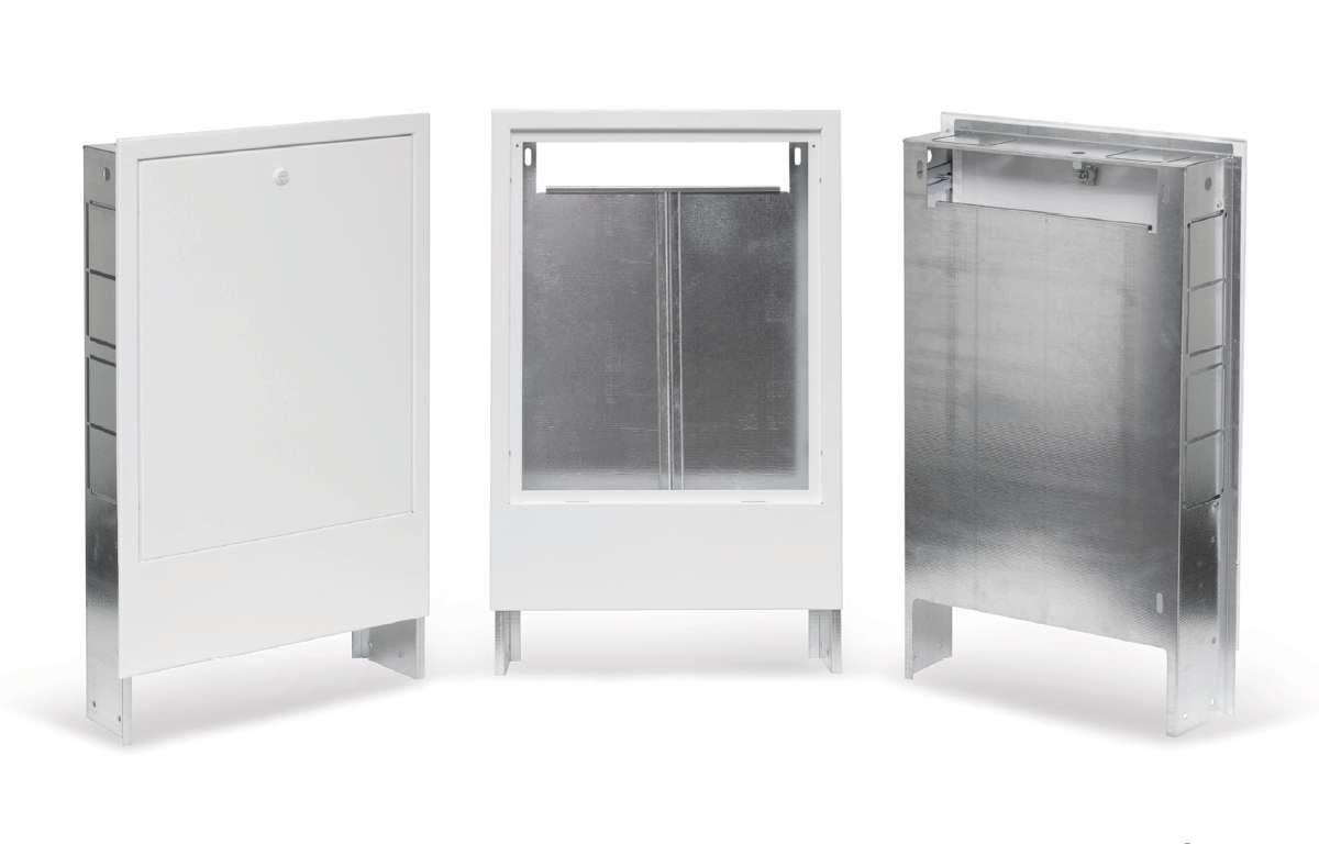 Podtynkowe szafki do rozdzielaczy ogrzewania podłogowego z serii SP