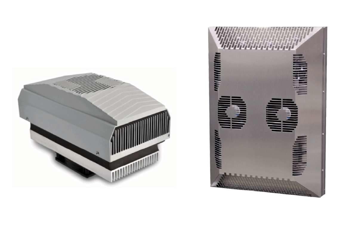 Klimatyzatory do szaf rack i szaf sterowniczych z opcją grzania na bazie ogniw Peltiera