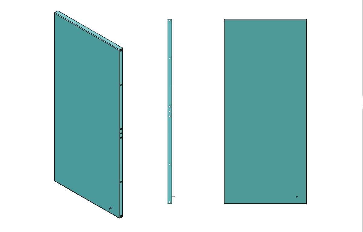 Płyta montażowa do szaf rack 19 cali