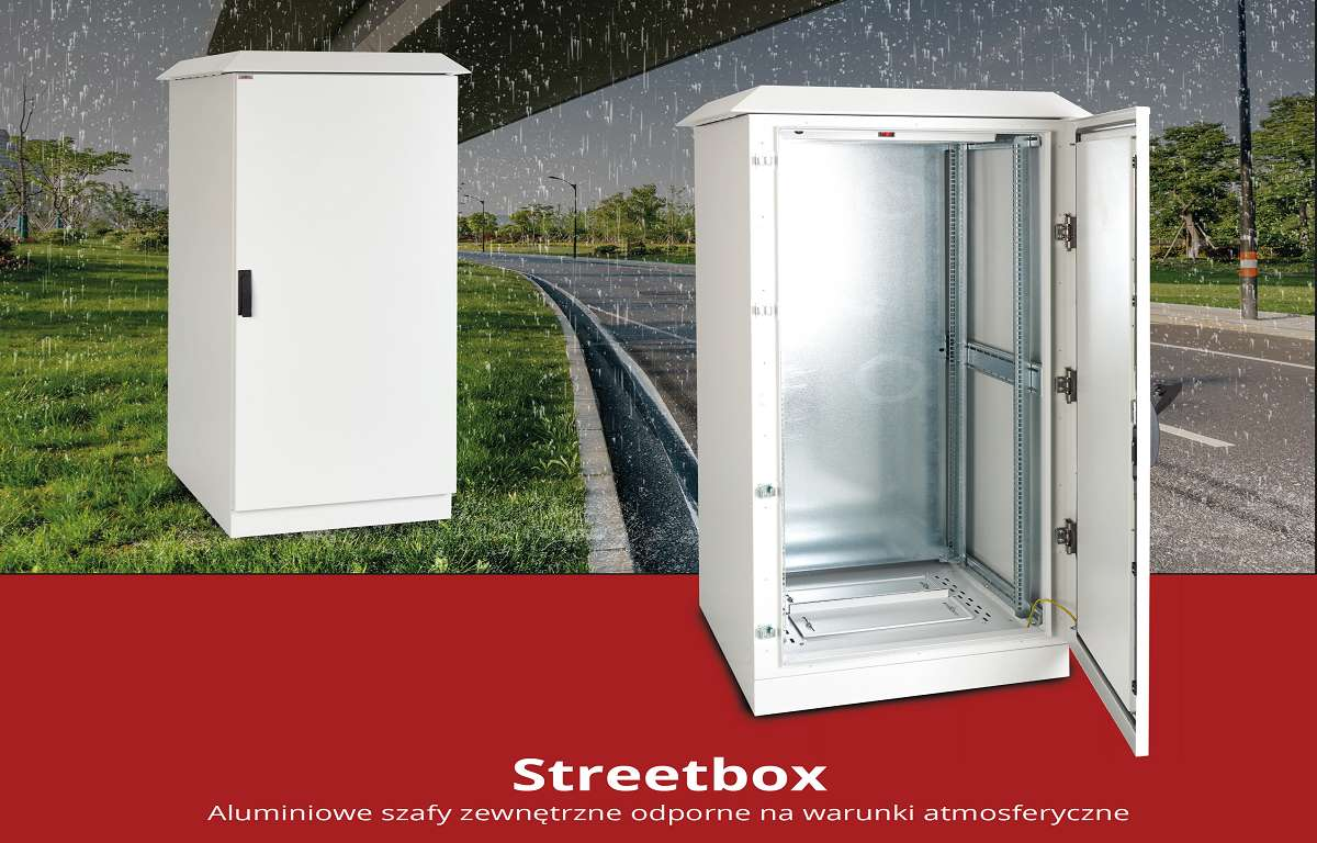 Aluminiowe szafy zewnętrzne z serii STREETBOX SABAJ